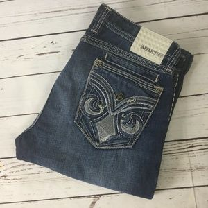 Affliction Cooper Distressed Jeans, Size 36 Long